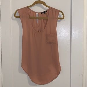 Necessary Clothing criss-cross open back blouse